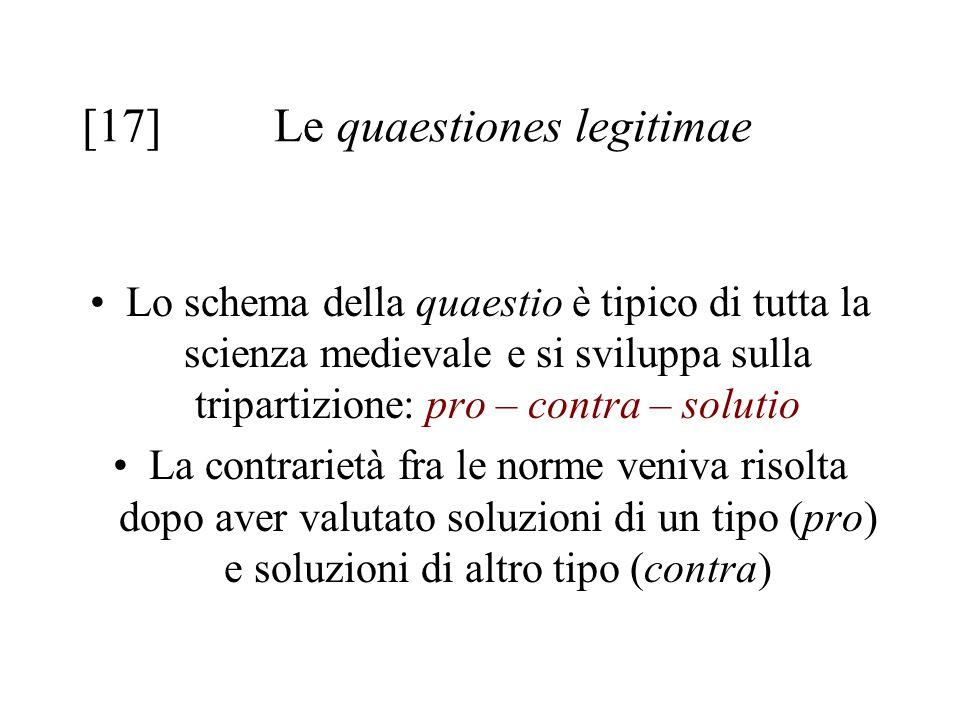 [17] Le quaestiones legitimae